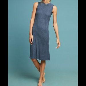 Anthropologie Eri + Ali Brushed Fleece Midi Dress